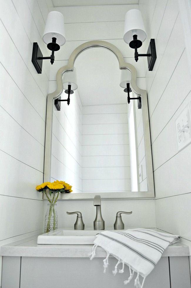 Diy Farmhouse Bathroom Vanity Powder Room Small Powder Room