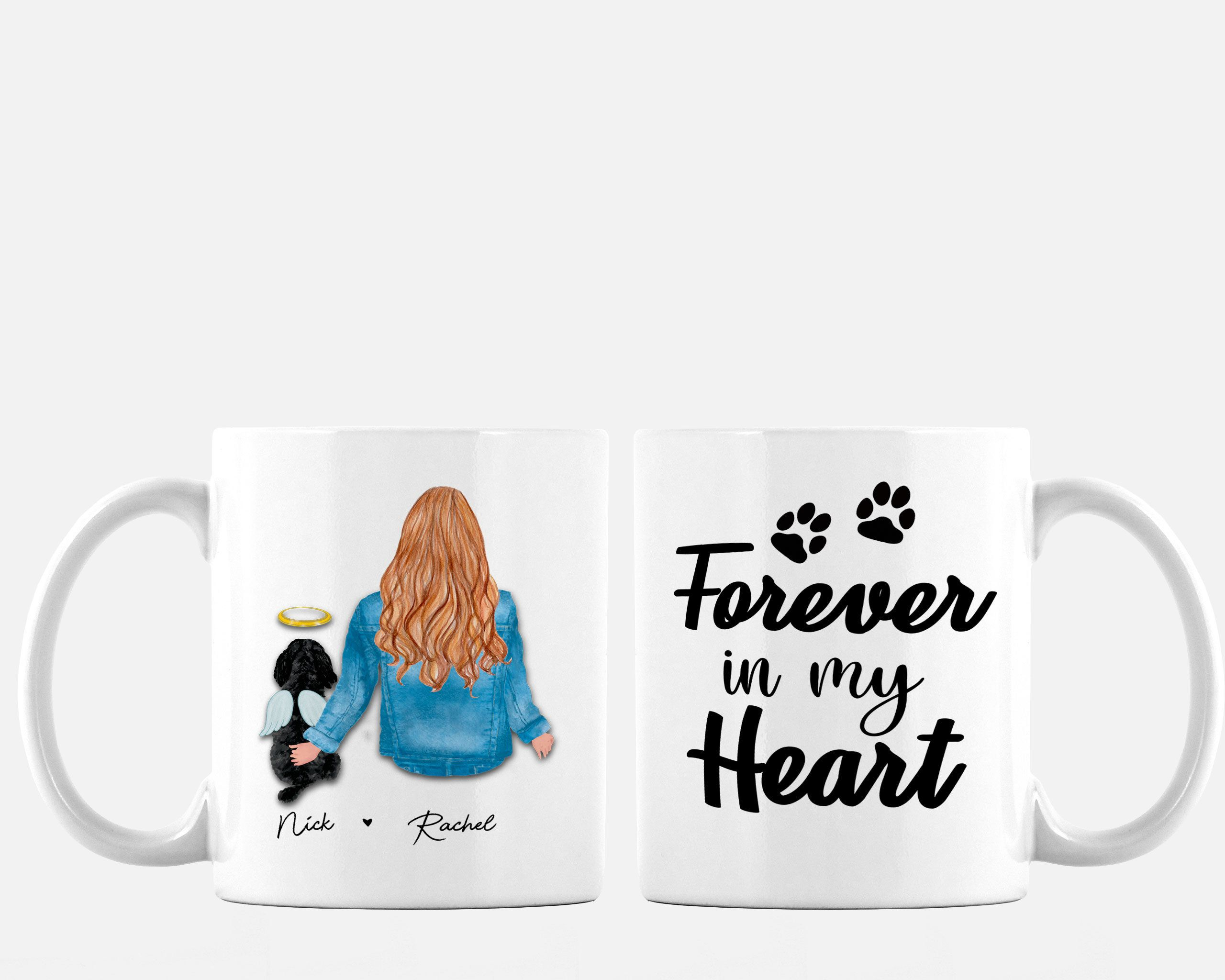 English Mastiff Gifts Love Dog Paw Prints Dog Cup Gift Coffee Tea Ceramic Mug