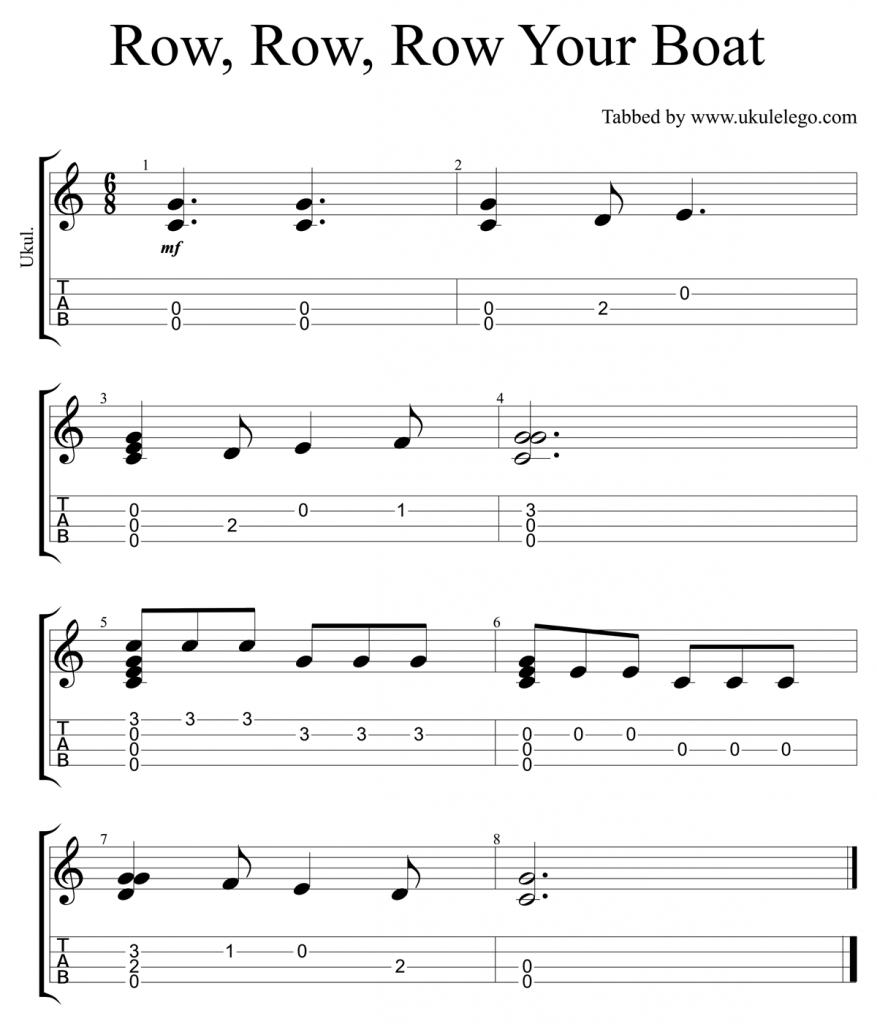 Simple chord melody arrangement of the nursery rhyme row row row simple chord melody arrangement of the nursery rhyme row row row your boat for hexwebz Images