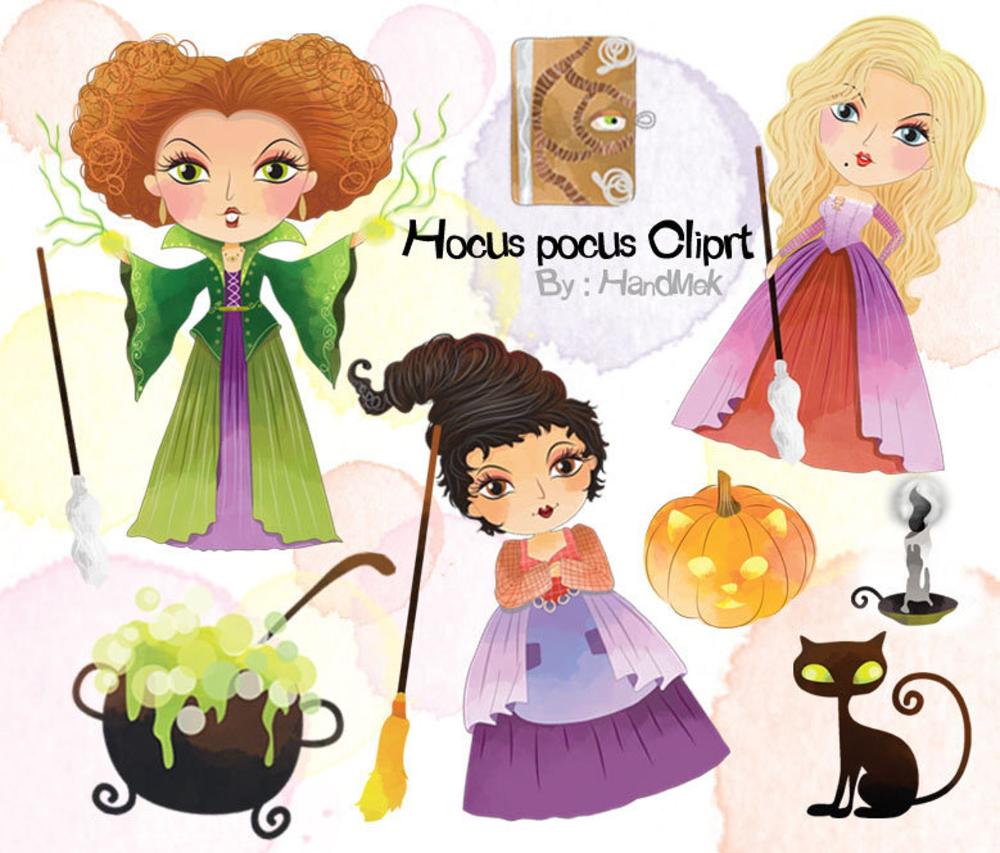 Hocus Pocus Characters Clipart Instant Download Png File 300 Dpi Hocus Pocus Characters Halloween Clipart Clip Art