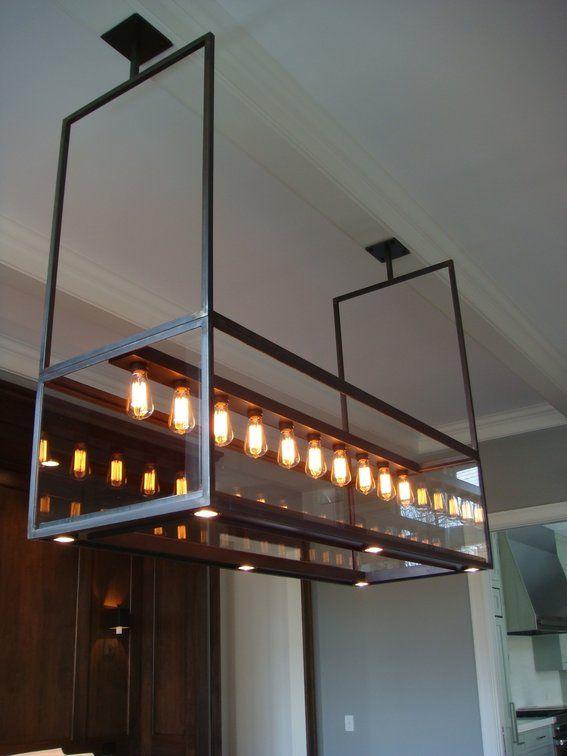 Custom Made Lighting Modern Steel Gl Chandelier