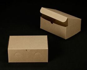 2374 10 X 7 X 4 Brown Brown Without Window Lock Tab Box With Lid 41 65 Per Case Or 13 30 Per 10 Pack Cookie Box Single Cupcake Boxes Cupcake Boxes