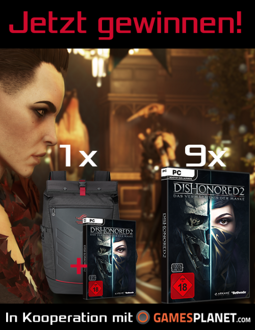 Win 1x ROG Ranger Backpack and 9x Dishonored 2 {DE AT} (11/4/16)... sweepstakes IFTTT reddit giveaways freebies contests