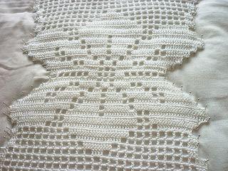 Meus crochês: Blocagem