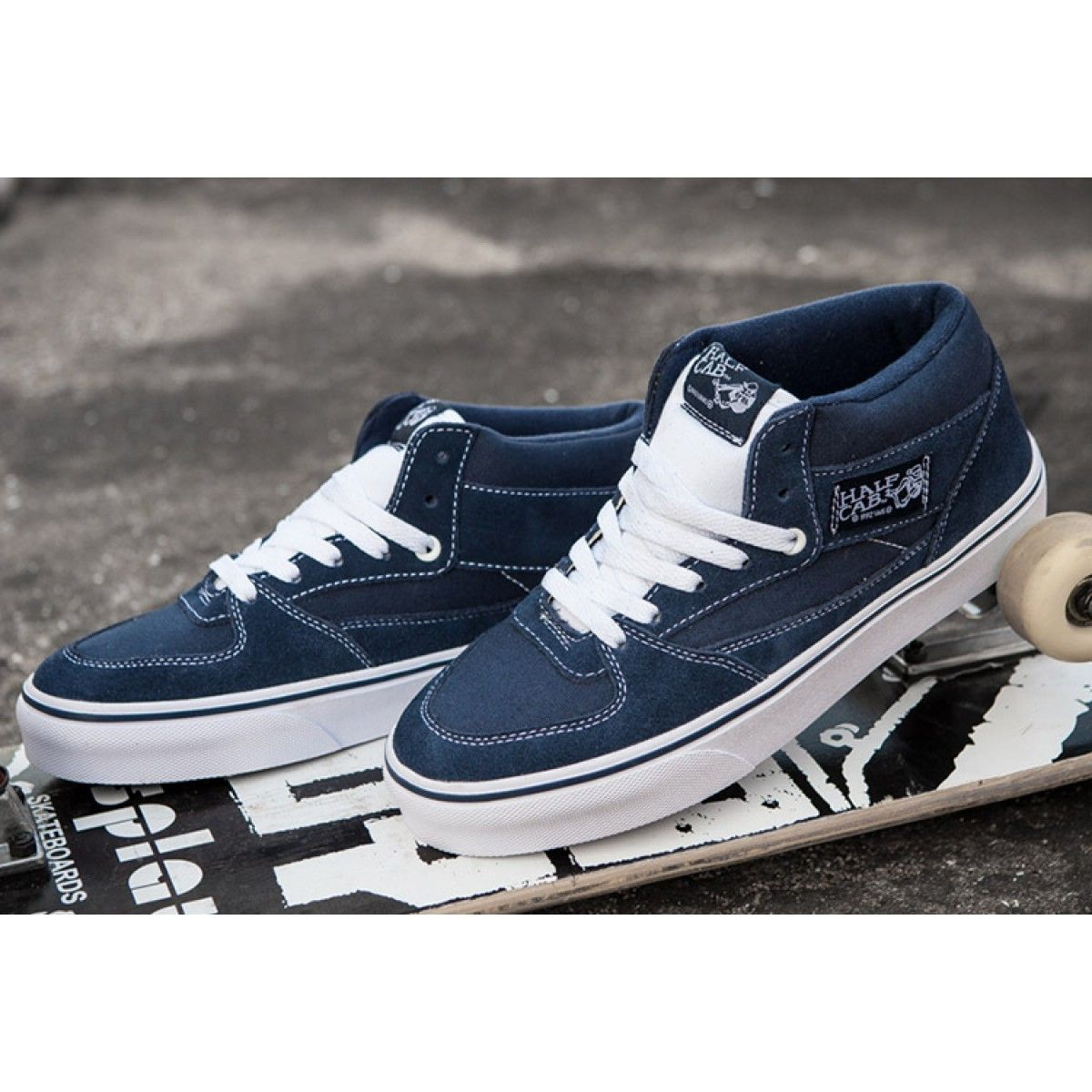 Vans Pro Skate Half Cab Street Knight Navy Blue Skateboard Shoes  Vans c1923329b