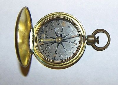 Rare Vintage Wwii Schwab Wuischpard S W Ny Brass Us Military Compass Ex Cond Vintage Accessories Artifacts