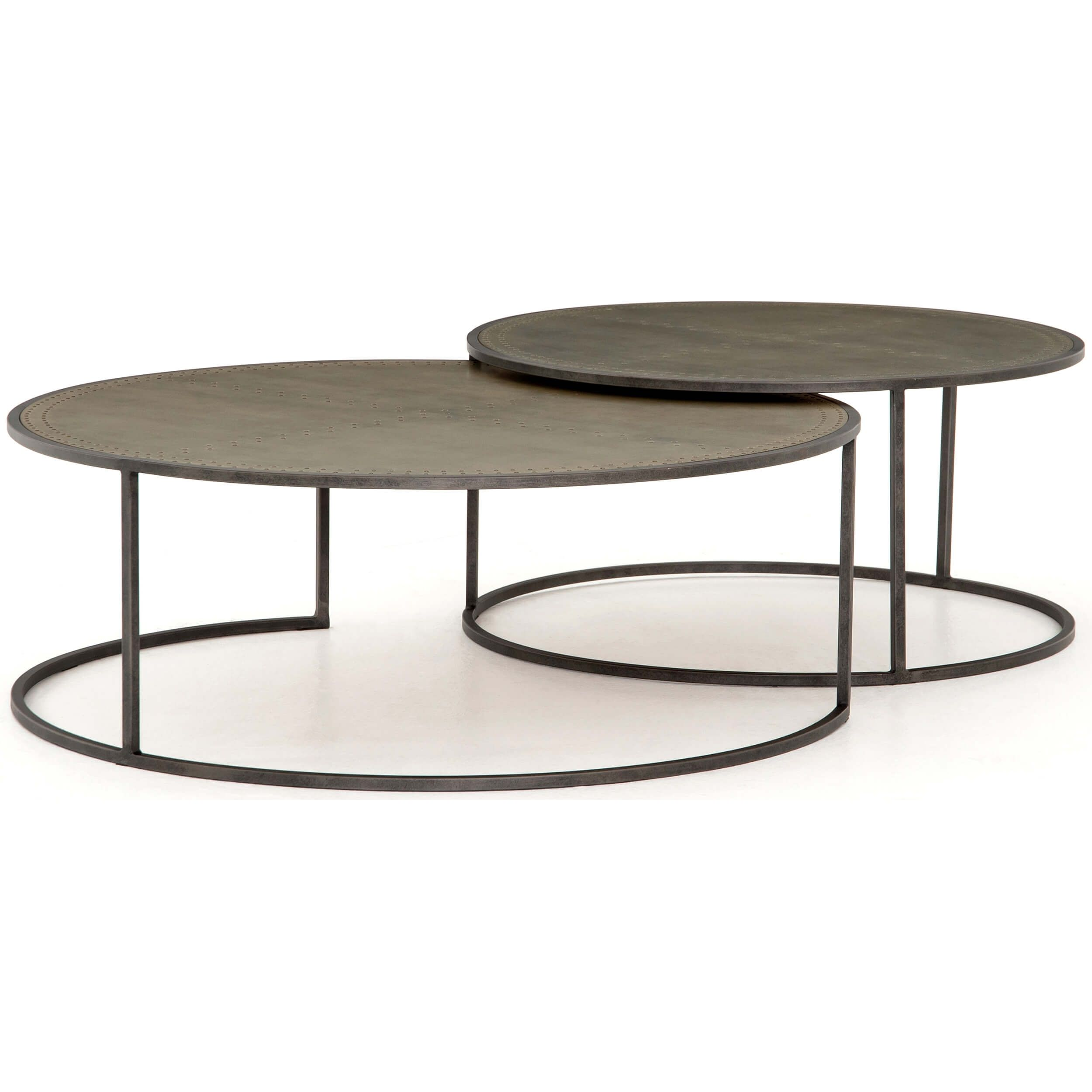 Catalina Nesting Coffee Table Galvanized Nesting Coffee Tables Coffee Table Round Nesting Coffee Tables