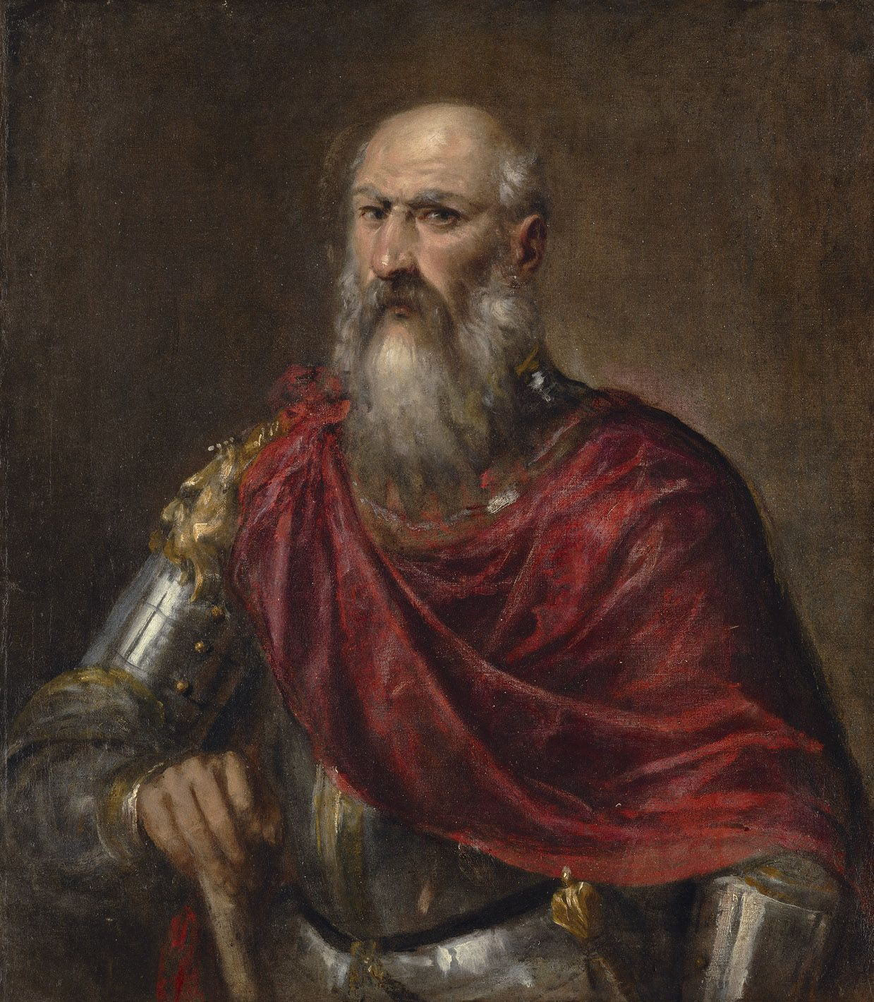 Tiziano Vecellio Called Titian 1485 9 1576 Portrait Of A