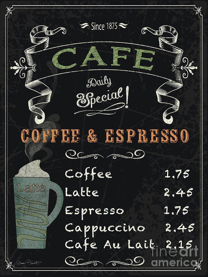 Cafe blackboard coffee menu jp3046 by jean plout kitchen for Blackboard design ideas