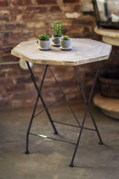 Rustic Octagonal Folding Table   Outdoor Dining   Shop Nectar