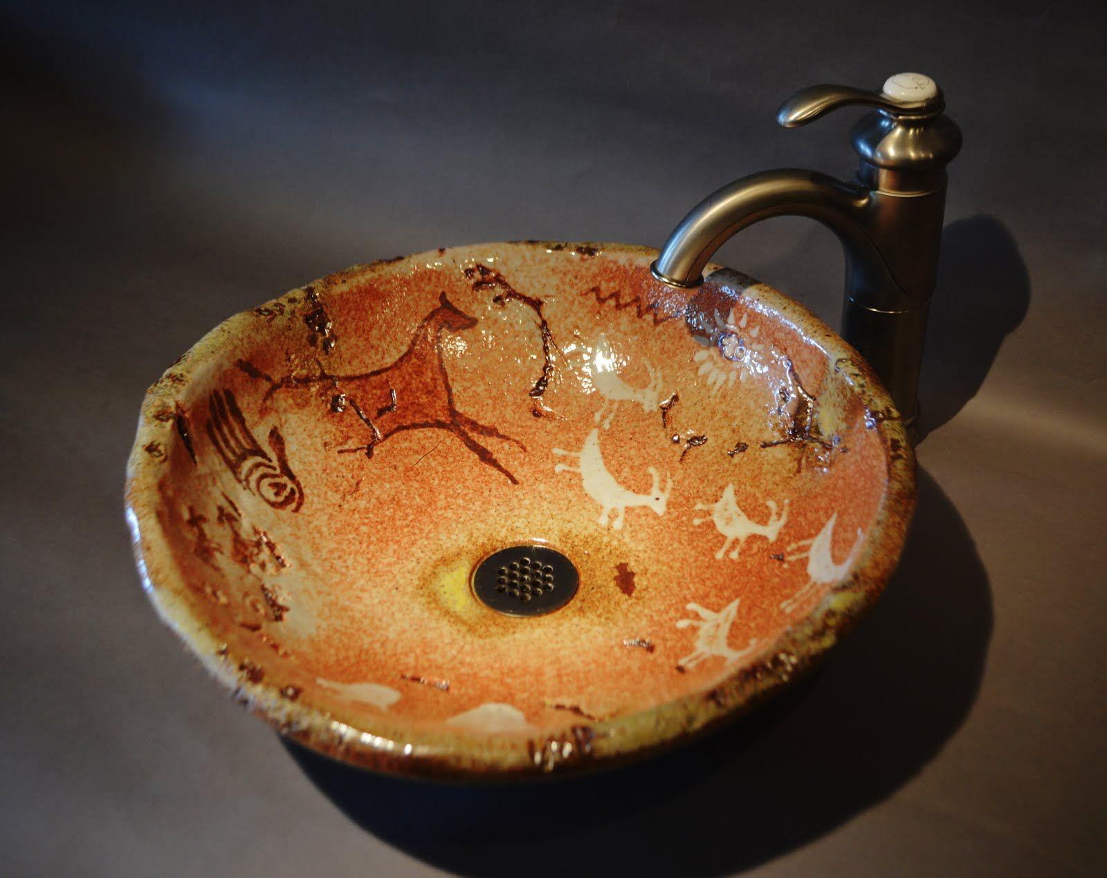 Perfect Handmade Vessel Sink With Shino Glaze