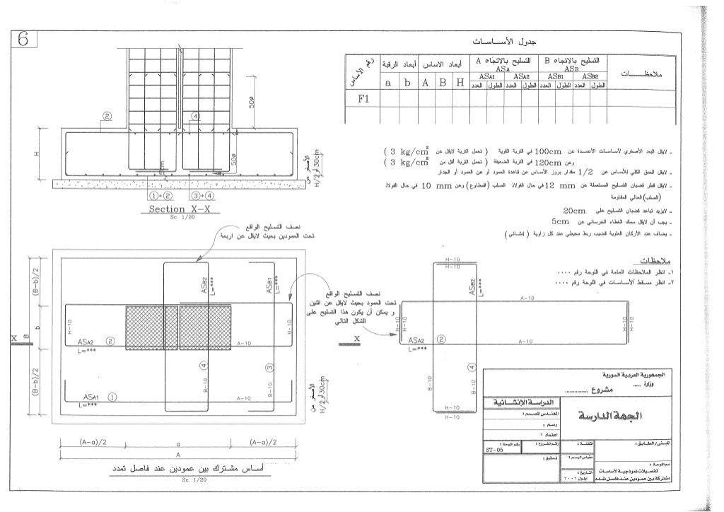 الكود العربي السوري تفاصيل وزسومات انشائية تصميم وتنفيذ شاملة لكافة عناصر الخرسانة المسلحة Structural Engineering Building Stairs Design