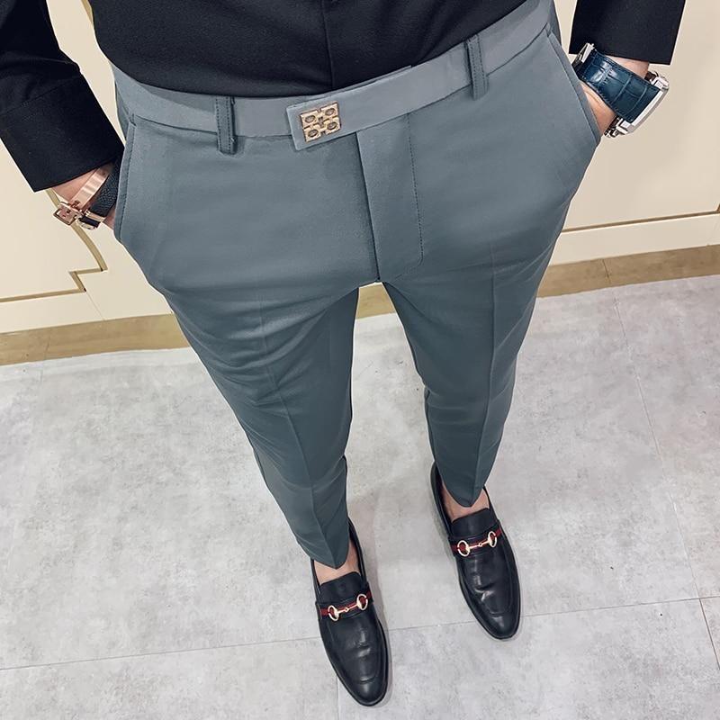Nstopos Pantalones Hombre New Pants Men Korean Slim Fit Men Casual Pan Amazingbaba Pants Outfit Men Fashion Suits For Men Slim Fit Dress Pants