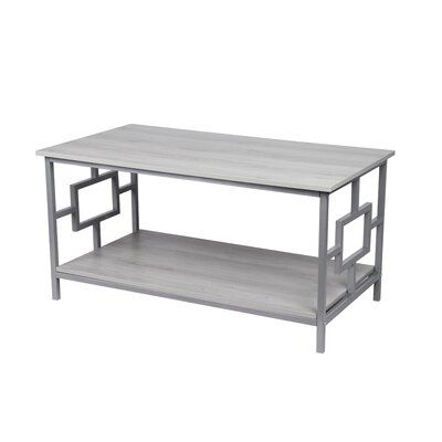 Winston Porter Kidwelly Coffee Table Table Base Color Gray Table