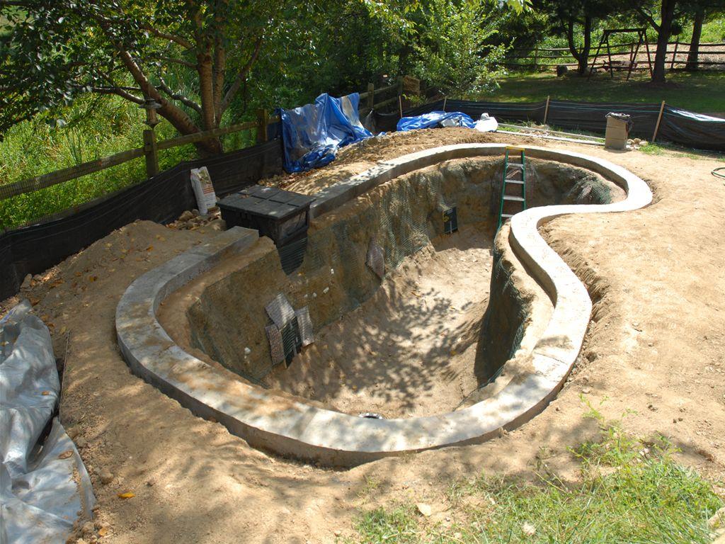 Cement Ponds Thread Filter Advice For New Pond Pond Design