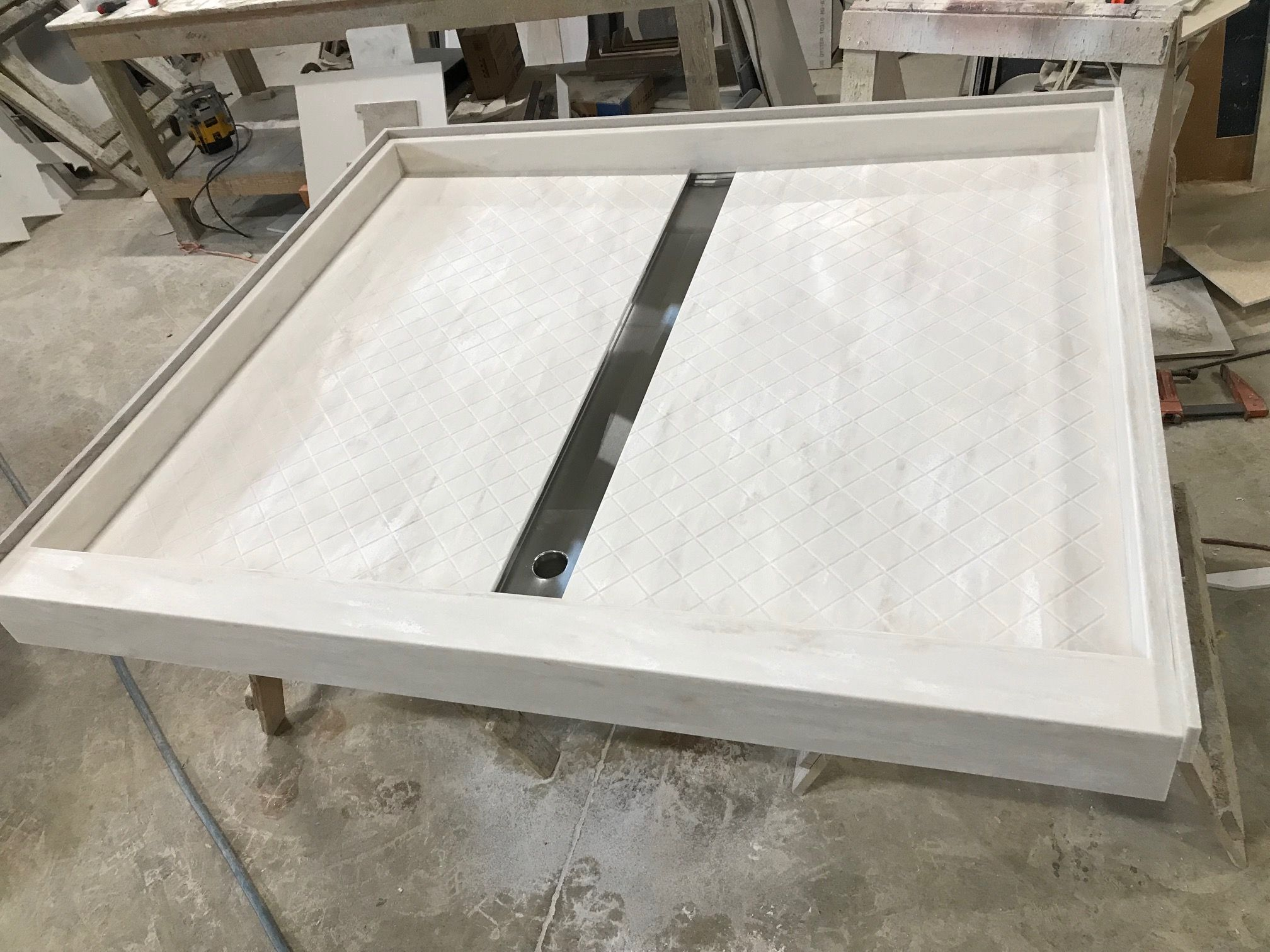 60 X 54 Corian Witch Hazel Solid Surface Shower Pan With Custom