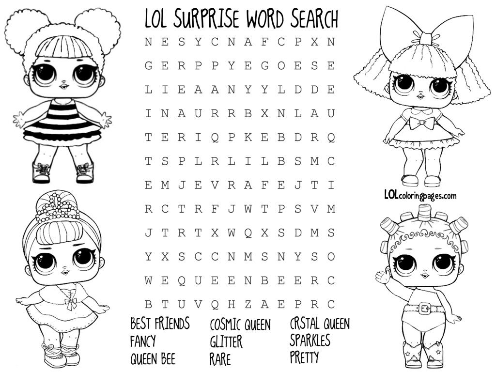 Lol Surprise Doll Coloring Pages Color Your Favorite Lol Surprise Doll Lol Dolls Cute Coloring Pages Coloring Pages