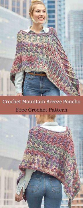 Mountain Breeze Poncho [ Free Crochet Pattern | Pinterest | Tücher ...