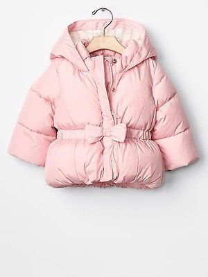 7c08840bd GAP Baby / Toddler Girl 0-6 Months NWT Pink Warmest Bow Puffer Coat Jacket