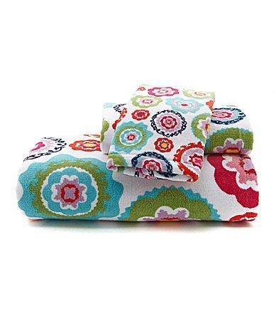 French bull sus bath towels dillards home sweet home - Dillards bathroom accessories sets ...