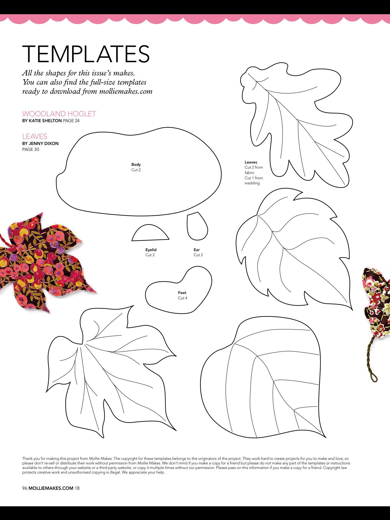 DIY hedgehog template | templates | Pinterest | Molde, Patrones y Flores