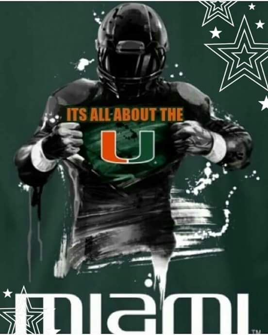 For All You North Dame Fans Don T Get It Twisted It S All About The U Miami Hurricanes Football Miami Football Miami University Football
