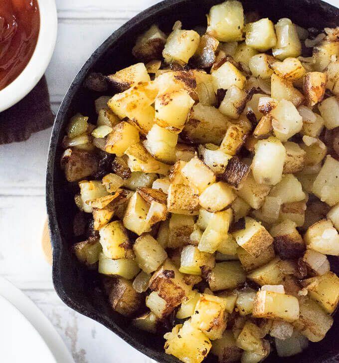 Southern Fried Potatoes #russetpotatorecipes