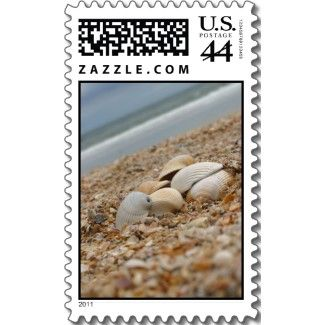 $19.95 http://www.zazzle.com/seashells_on_beach_custom_postage_stamps_bulk-172568106734253152?rf=238222133794334761