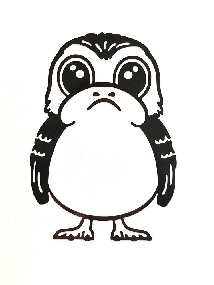 star wars the last jedi porg vinyl decal sticker choose your colour vinyl decals vinyl decal stickers vinyl star wars the last jedi porg vinyl