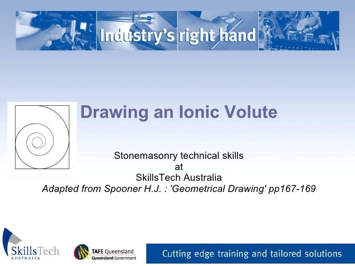 Drawing an Ionic Volute _ Stonemasonry technical skills at - what are technical skills