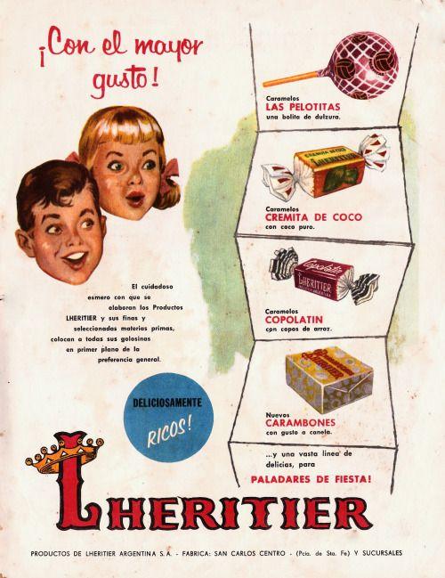 Caramelos LHERITIER, década del 60.