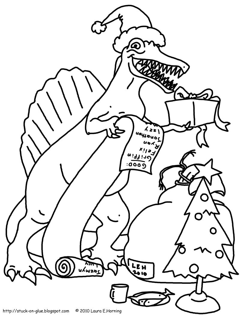 Dinosaur Christmas Coloring Page Santa Coloring Pages Dinosaur Coloring Pages Dinosaur Coloring