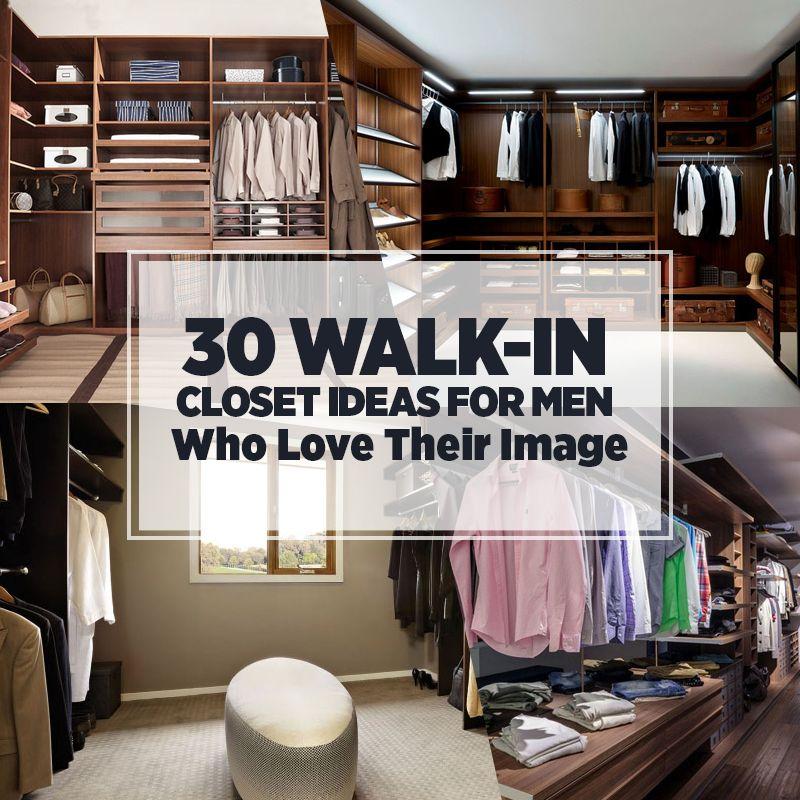 Schlafzimmer Ideen Für Männer: 30 Begehbare Kleiderschränke Ideen Für Männer, Die Ihr