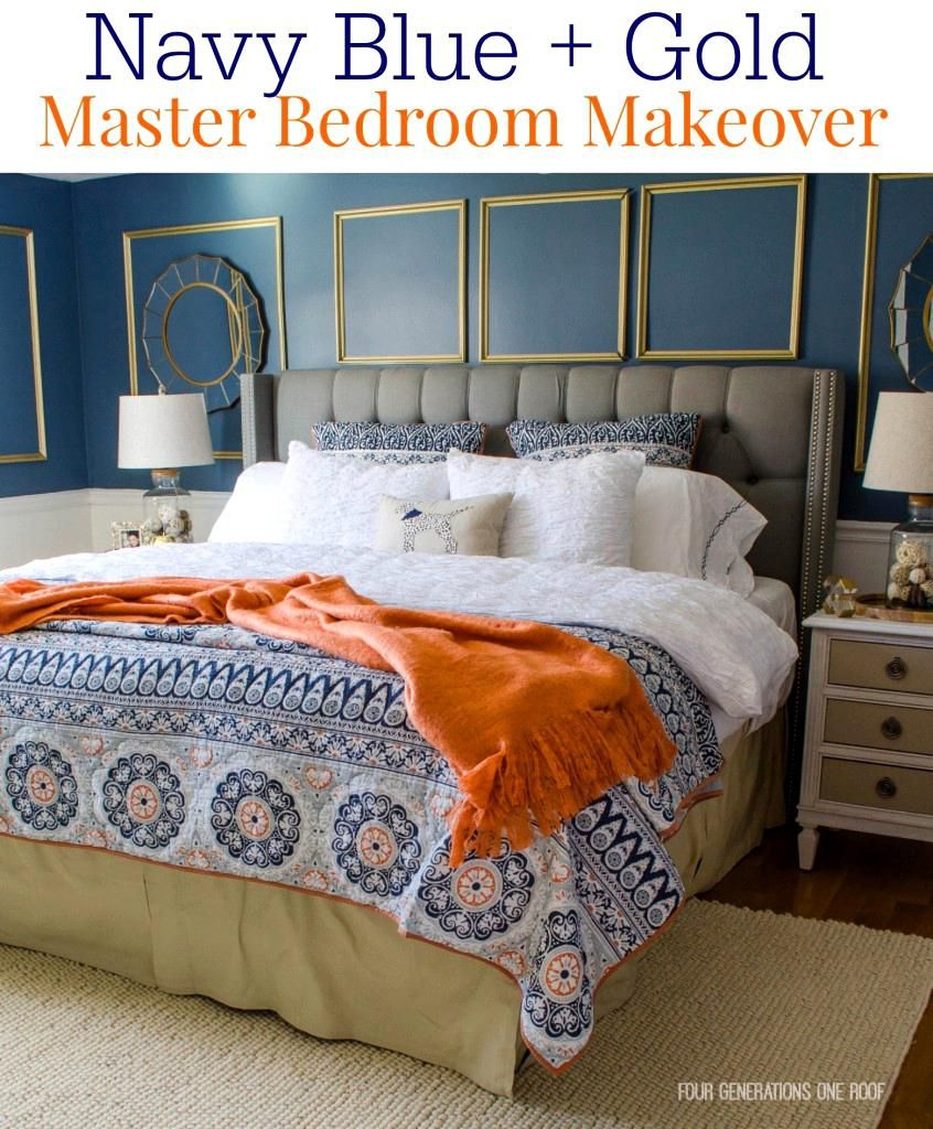 Sweet Pleasant Blue Orange Bedroom Ue Design Blue And Orange