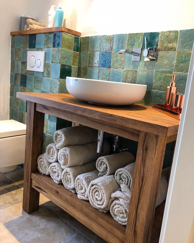 Badezimmer Badezimmermobel Waschtisch Waschtischplatte Holz Massivholz Bad Www Holzwerk Hambu Waschtischplatte Holz Kleines Badezimmer Umgestalten Badezimmer