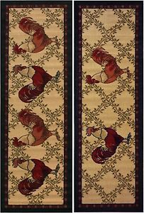 Area Rug Runner Kitchen Hallway Runners Non Skid Rooster Floral Persian Oriental