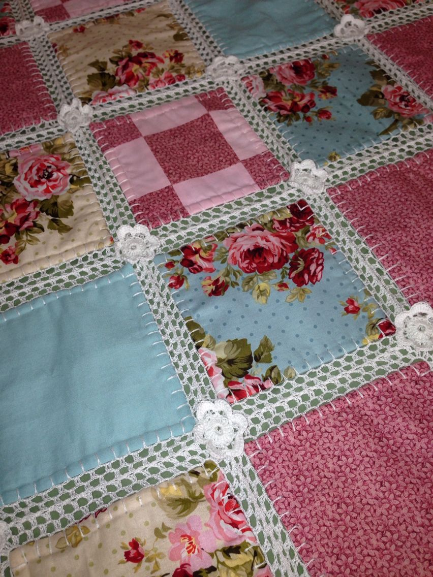 Fusion Blanket - crochet and fabric | Blankets | Pinterest ...
