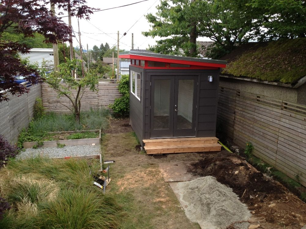 8x12 Backyard Music Studio PreFab Shed in East Vancouver BC