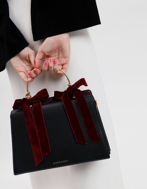 Velvet Keith Want Black Bow Detail Soon In HandbagCharlesamp; pSzMLGjqUV