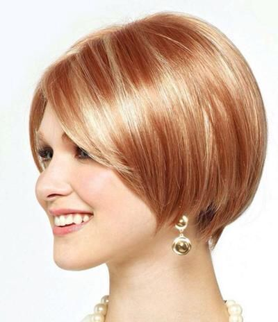 Pale Strawberry Blonde With Light Blonde Highlights Strawberry Blonde Hair Angled Bob Hairstyles Short Hair Styles
