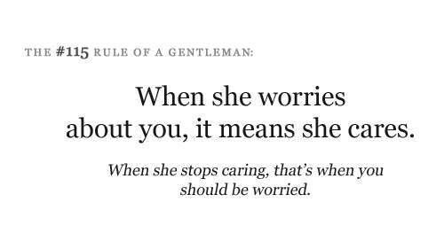 she is worried about you