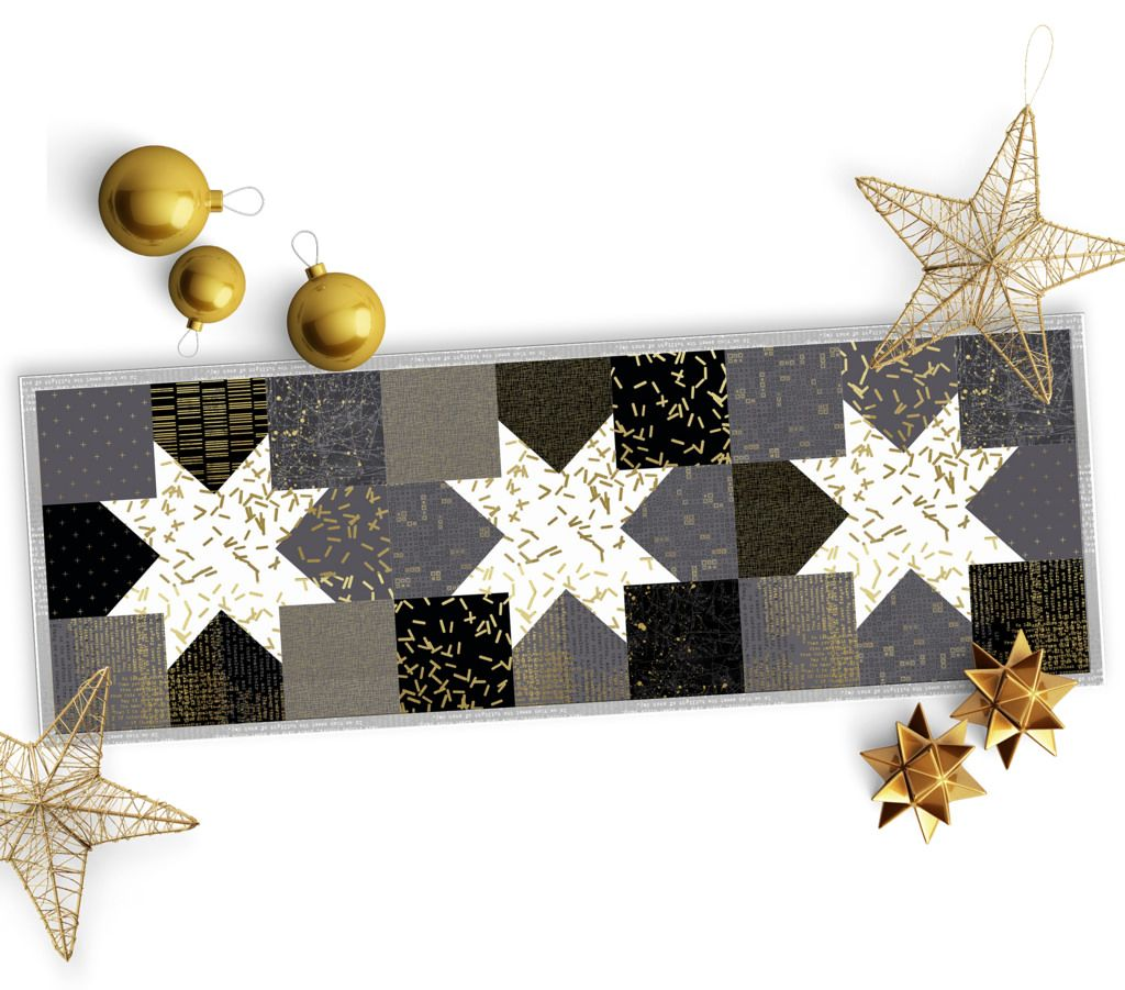 Quilted Christmas Table Runner Made From The Collection