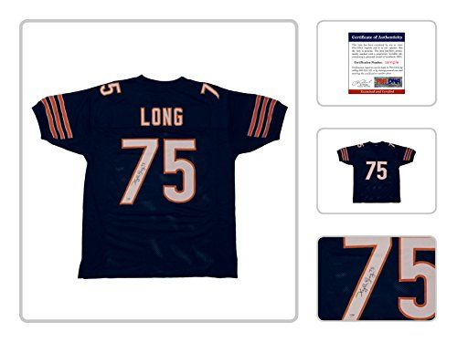 Kyle Long Signed Autograph Jersey - Navy Chicago Bears Signed Autograph