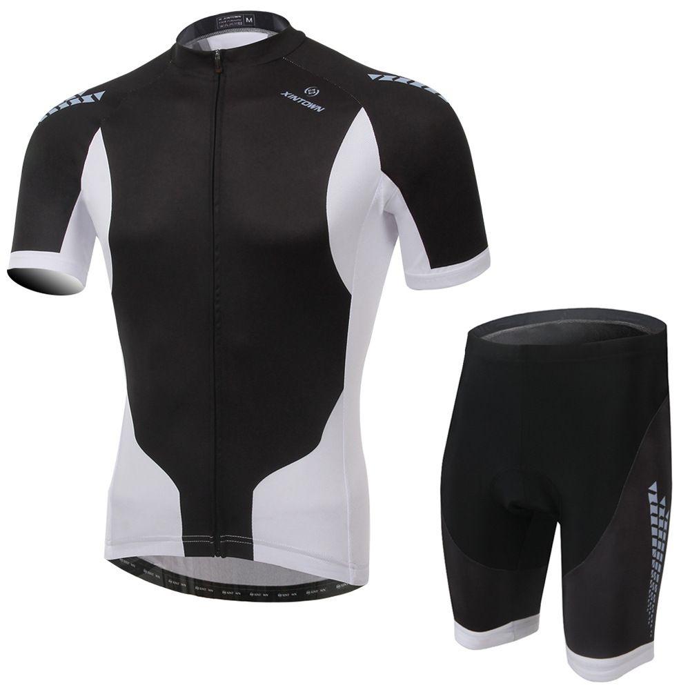 Cycling Set Black White Summer Men Short Sleeve Shirt and Shorts Bike Set  Sports Riding Gym ac62c732f