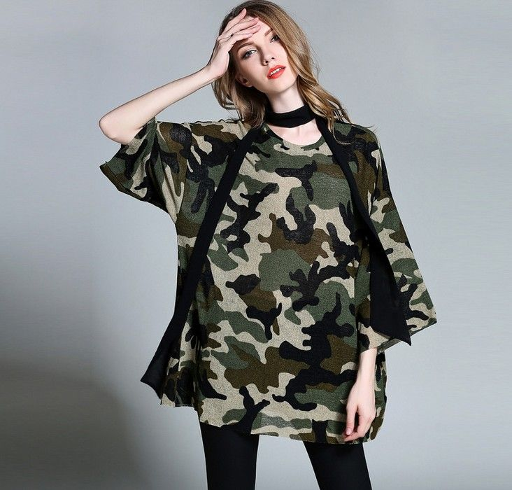 >> Click to Buy << 3xl women summer chiffon top tees plus size european woman extra large casual fashion brand spring camo T-shirts Tees 2xl  #Affiliate