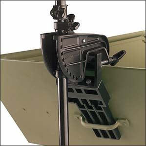 Trolling motor mounting bracket for front of jon boat for Mounting a transom mount trolling motor on the bow