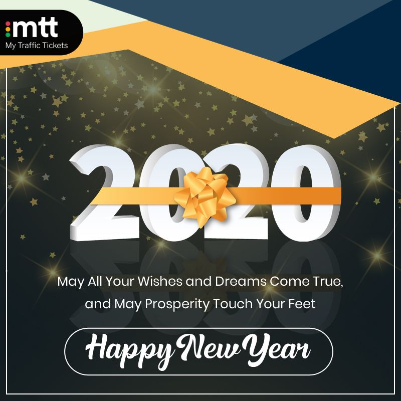 My Traffic Tickets wishes you a joyous 2020! May the New