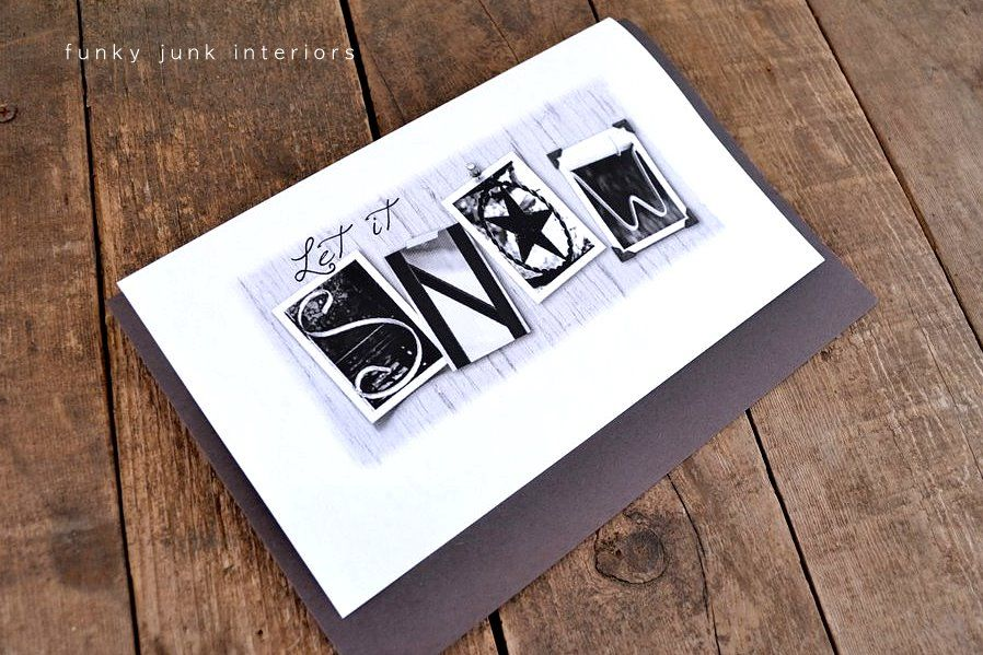 Creating with amazing Alphabet Photos Funky Junk