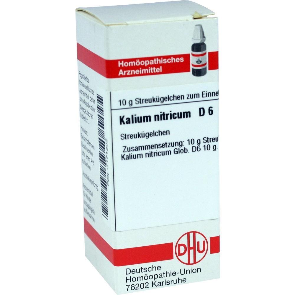 KALIUM NITRICUM D 6 Globuli:   Packungsinhalt: 10 g Globuli PZN: 07171302 Hersteller: DHU-Arzneimittel GmbH & Co. KG Preis: 5,19 EUR…