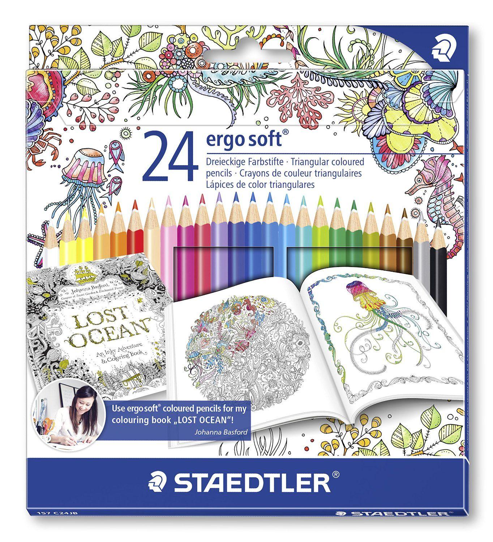 NEW Staedtler Noris Club Colored Pencil 36 Colors Johanna Basford Edition